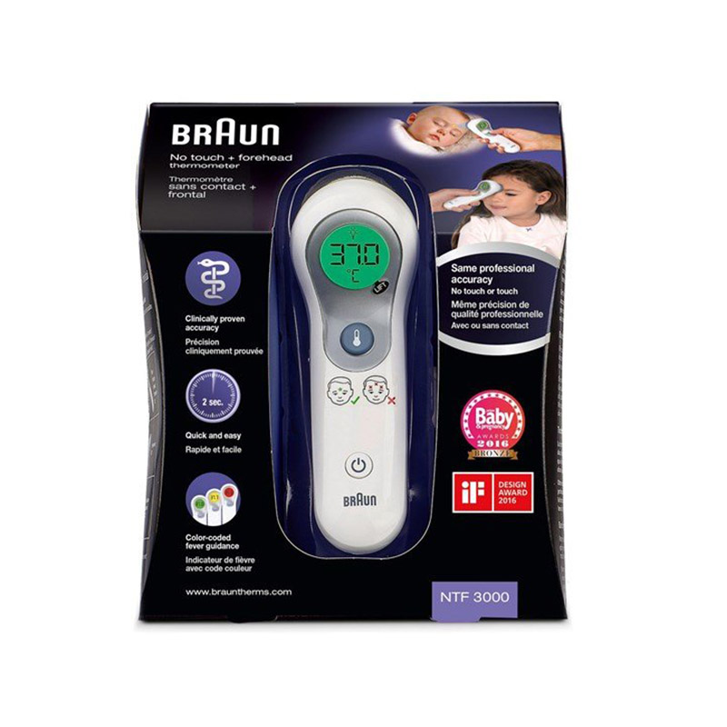 Braun NTF3000 Geen contact- en voorhoofdthermometer