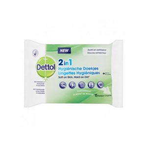 Dettol 2-in-1 Hygiëne Desinfectie Doekjes (12 vel)